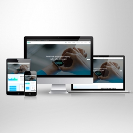 Responsive Screen Mockup for Web Showcase