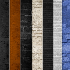 Retro Wall Bricks Texture Collection