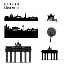 Berlin Element Brandenburg Gate & Skyline