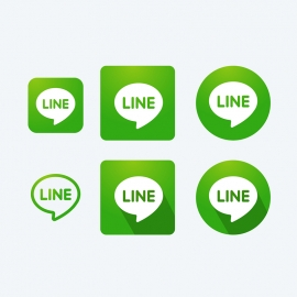 Line Messenger Vector Icons
