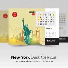 New York Desk Calendar
