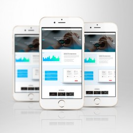 Smartphone Responsive Screen Mockup