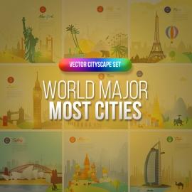 World Cities Skylike Travel & Tourism Vector