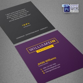 Corporate Squere Business Card