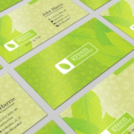 Corporate Green PSD Business Card