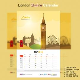 London Skyline Travel Calendar