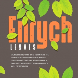 Typography Leaves Banner & Decorative Design Elements