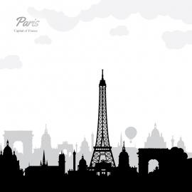 Paris Skyline Travel Vector