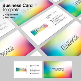 Creative Colorful Corporate Business Card