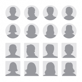 Profile Avatrs Male & Female Portrait Vector