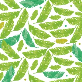 Tropical Leaves Vector Background