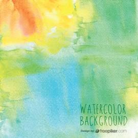 Watercolor Bright Multicolor Background