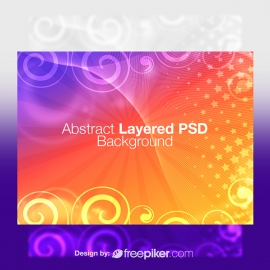 Abstract Layered PSD Background