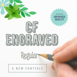 Font Preview Clean Mockup Design Elements