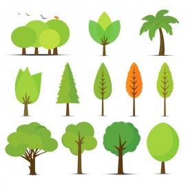 Vector Tree & Plant Set