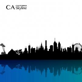 California Skyline vector