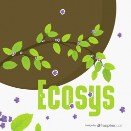 EcoGreen Leaves Brances & Flower Tree