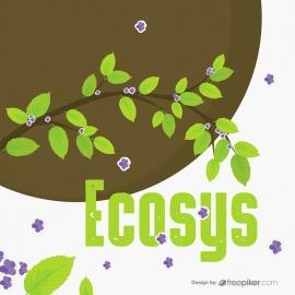 EcoGreen Leaves Brances & Flower Tree