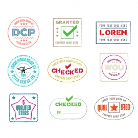 Vector Rubber Stamps & Retro Seal Badge Logo