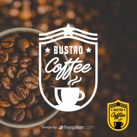 Retro Coffee Shop Badge Logo