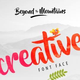 BrushScript Font Preview Design Creative Mockup
