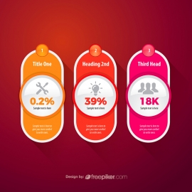 Rounded Banner Box Colorful Infographic