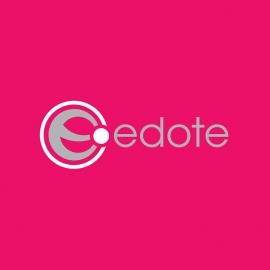 E Letter with Circle Minimal Logo