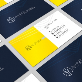 Interior & Architecture Studio Clean Business Card