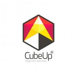 Cube Getup Arrow Polygon Logo