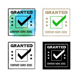 Granted Guarantee Rubber Stamp & Retro Seal