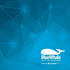 Geometric Blue Background with Tricorner Shape