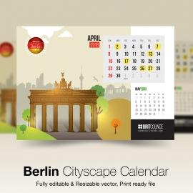 Berlin Cityscape Calendar