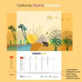 California Skyline Travel Calendar