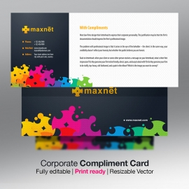 Colorful Corporate Compliment Card