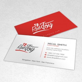 Red Color Business Card