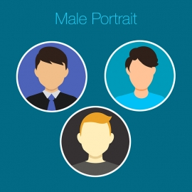 Male Portrait Vector Avatar