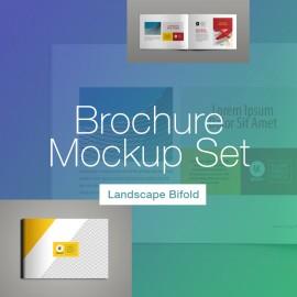 Landscape Brochure Mockup Set