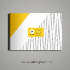Landscape Brochure Cover Mockup