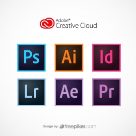 Adobe CC Illustrator Ai Photoshop Ps InDesign Id Ae Lr Pr Icon Set