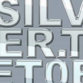 3D Text Effect PSD Layer Style Silver