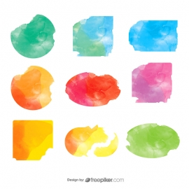 Colorful Vector Watercolors