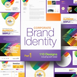 Glorious Corporate Business Branding Indentity Stationery Pack Part 1
