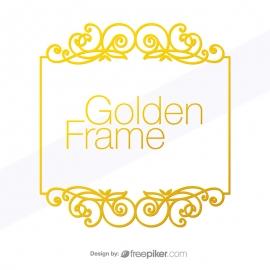 Golden Frame Floral Design