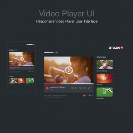Video Player UI  Music Video Player User Interface