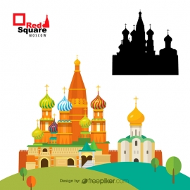 Moscow Red Square Heritage of Moscow Vector