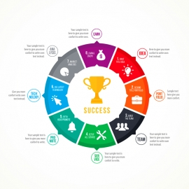 Business Success Circle Infographic