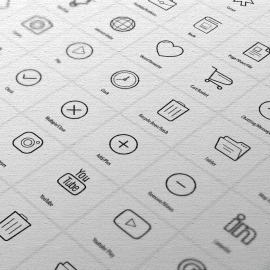 Most Use Vector Icon Set Line Draw Vector Icons