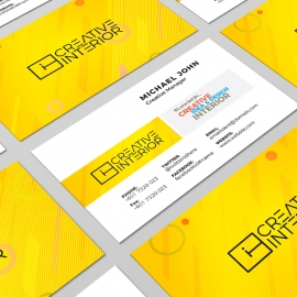 Minimal Colorful Corporate Business Card