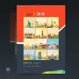 World Cities Skyline Travel Calendar 2018