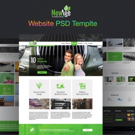 NewAge PSD Template Web Theme